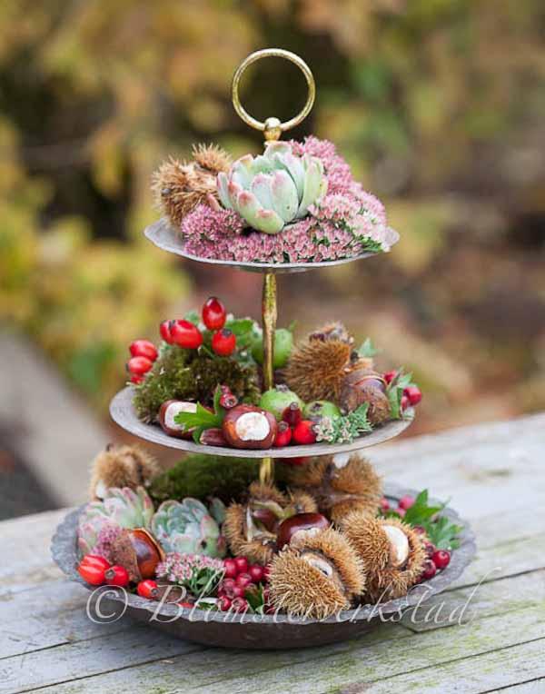 Blomsterverkstad Zandras onsdag  Våningsfat DIY