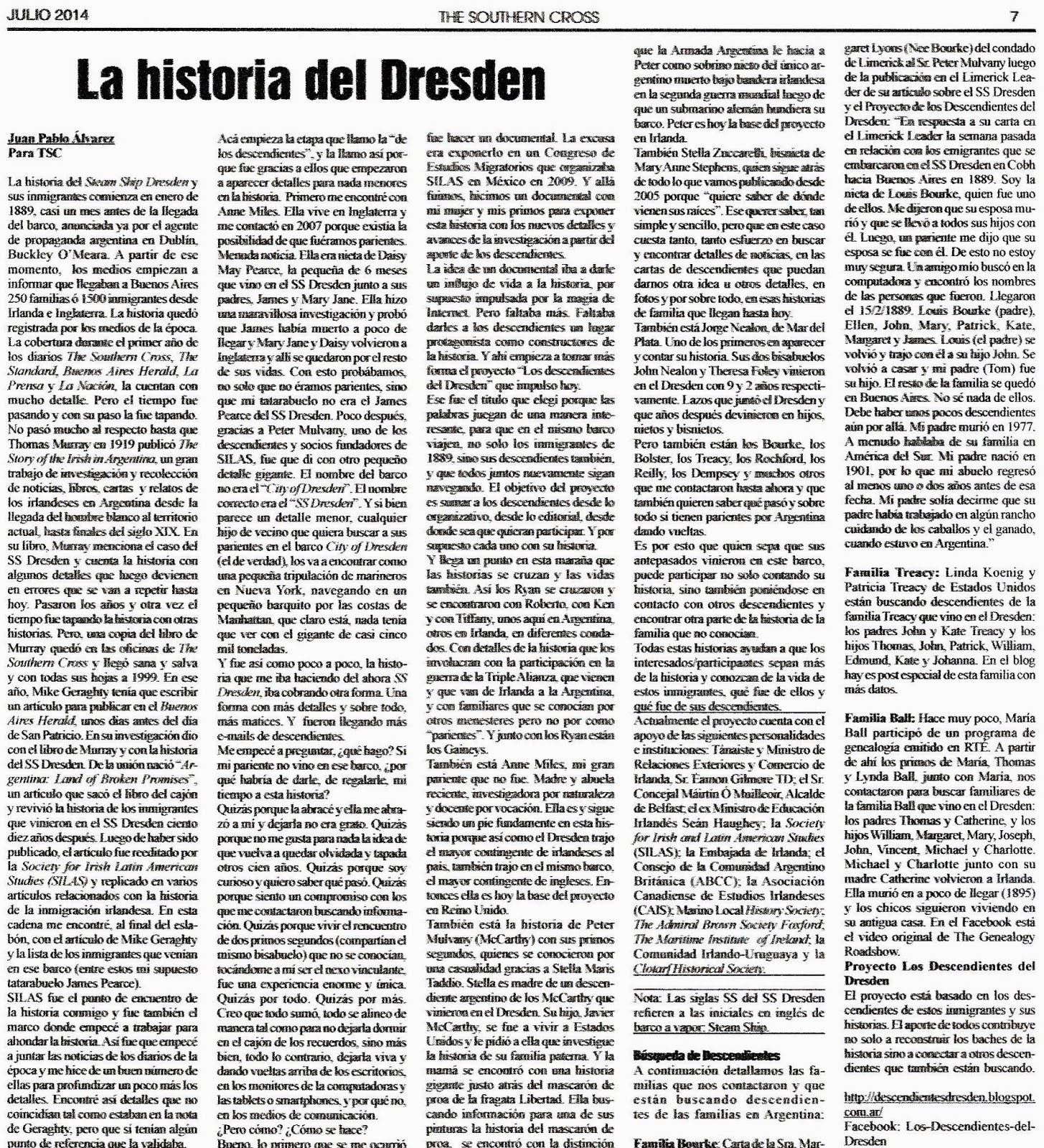 Los descendientes del Dresden: 2014