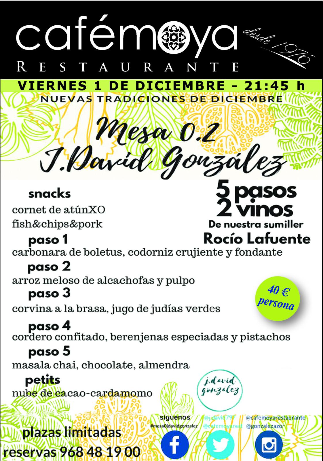 Nuevas tradiciones de diciembre en Restaurante Café Moya