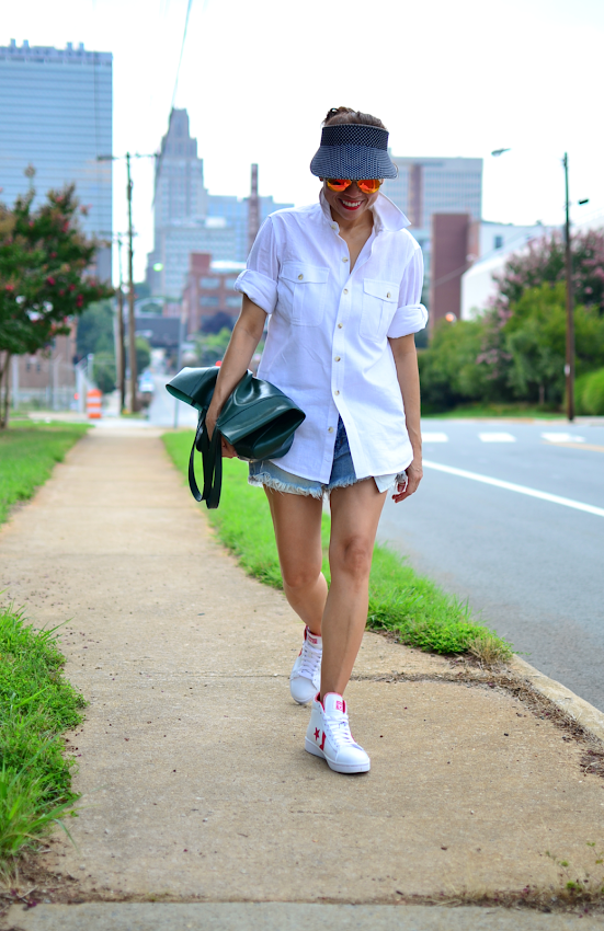 Outfit with high top sneakers