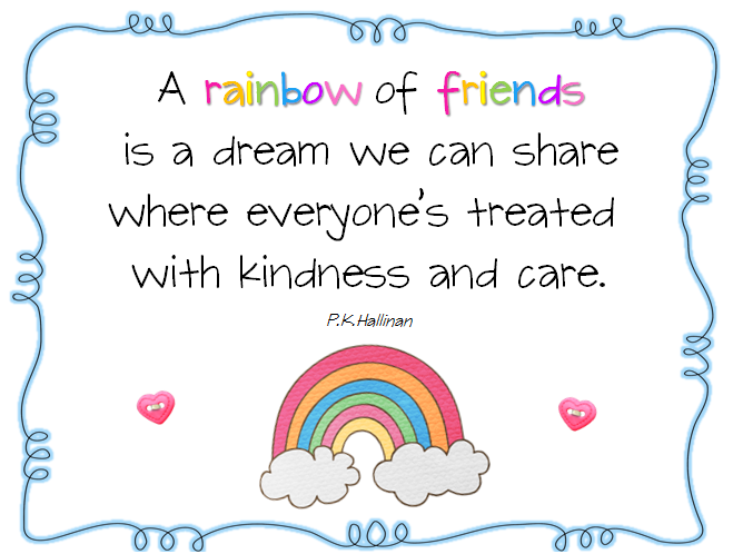 Friendship Quotes For Kindergarten : Rainbow poems and quotes quotesgram