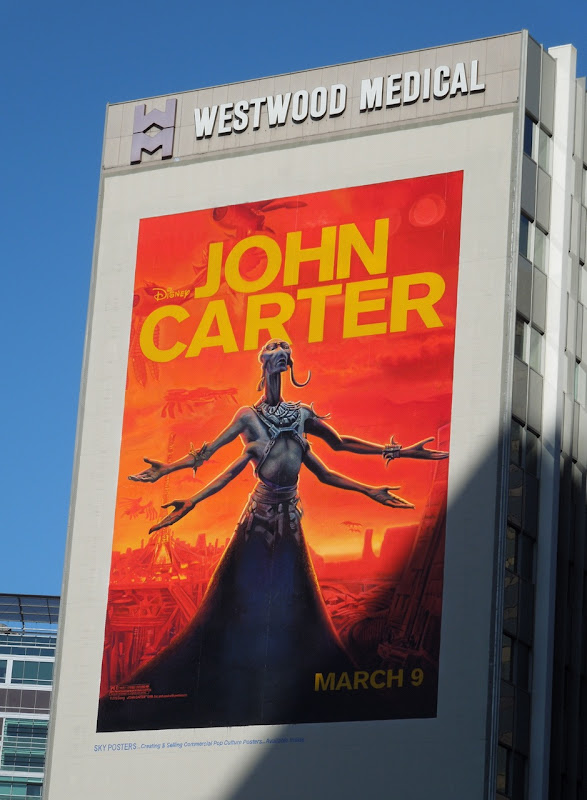 Giant John Carter Martian billboard