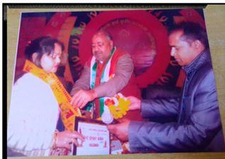 अलीगढ प्रदर्शनी में शहर विधायक आदरणीय संजीव रजा जी द्वारा सम्मानित