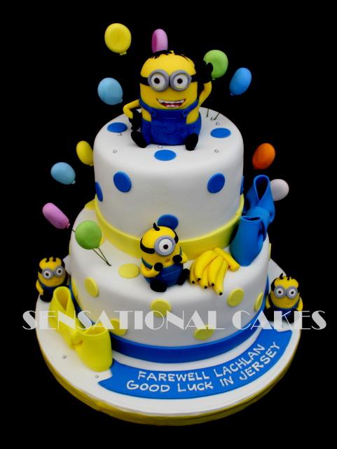 The Sensational Cakes 1st Year Minion Party Theme Cake Singapore
