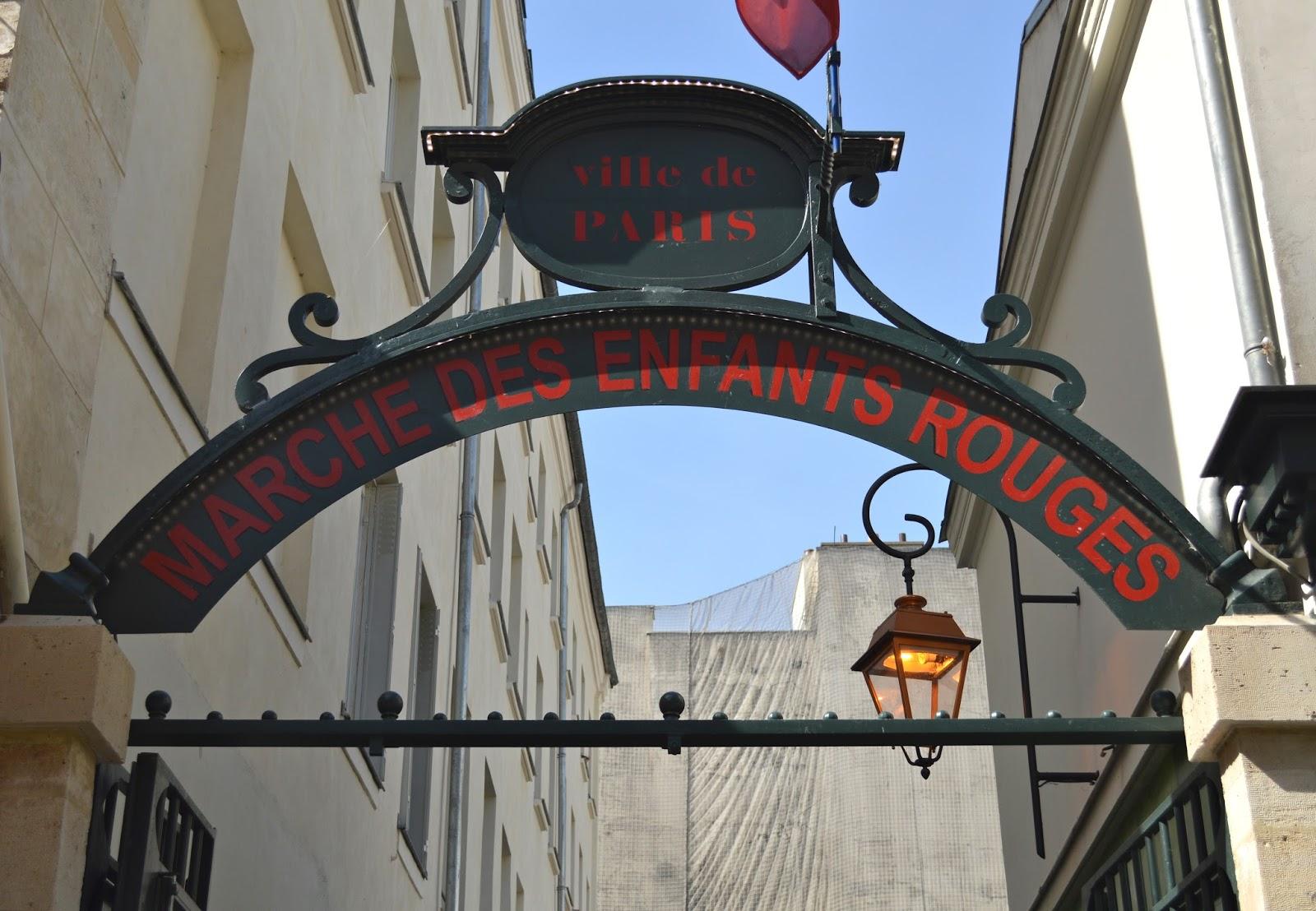 Marché des enfants rouges Paris, market marais