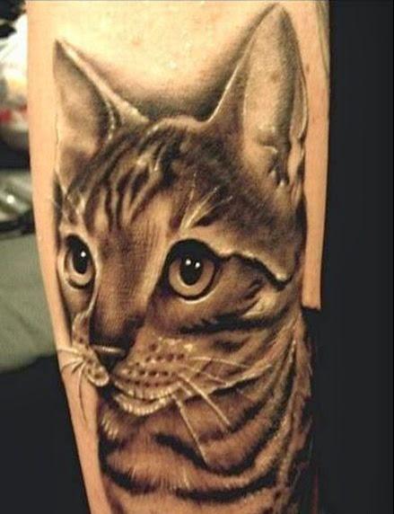 Bengal cat tattoo ideas for Cat tattoo designs