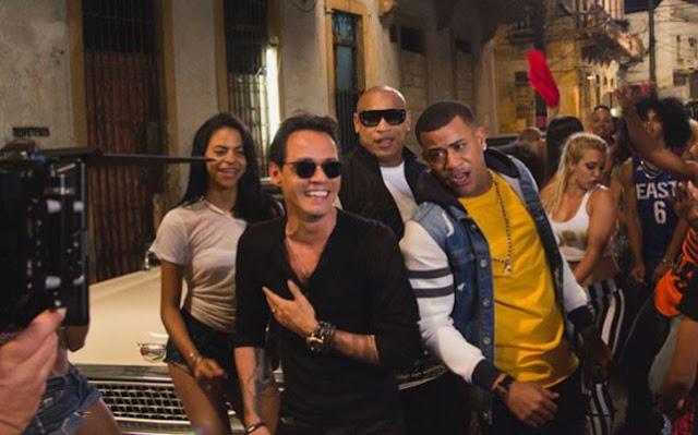 La Gozadera, Gente de Zona, Marc Anthony, video oficial cancion la gozadera