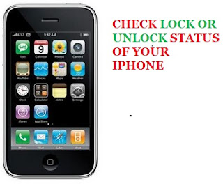 Check the locked or unlocked status of iphone