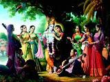 Krishna ensina a dançar