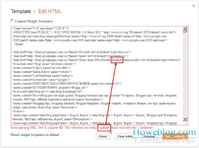 Blogger Parsing XML Error