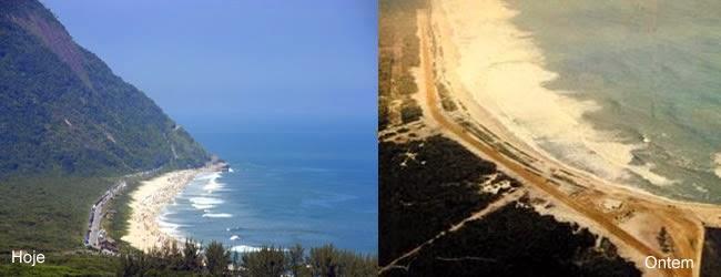 Praia de Grumari, como Prainha, antigamente seu acesso se dava por trilhas apenas.
