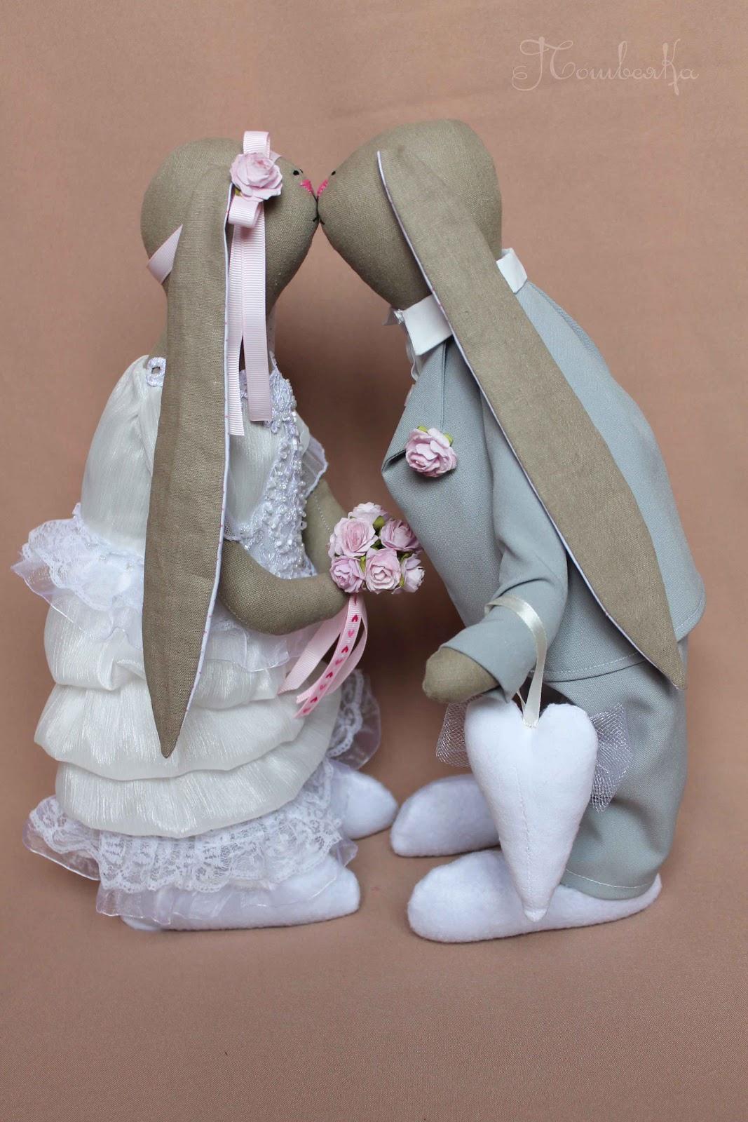 Свадебные зайчики своими руками сшить 6