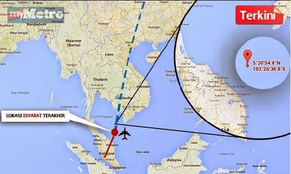Kronologi kehilangan pesawat MAS MH370