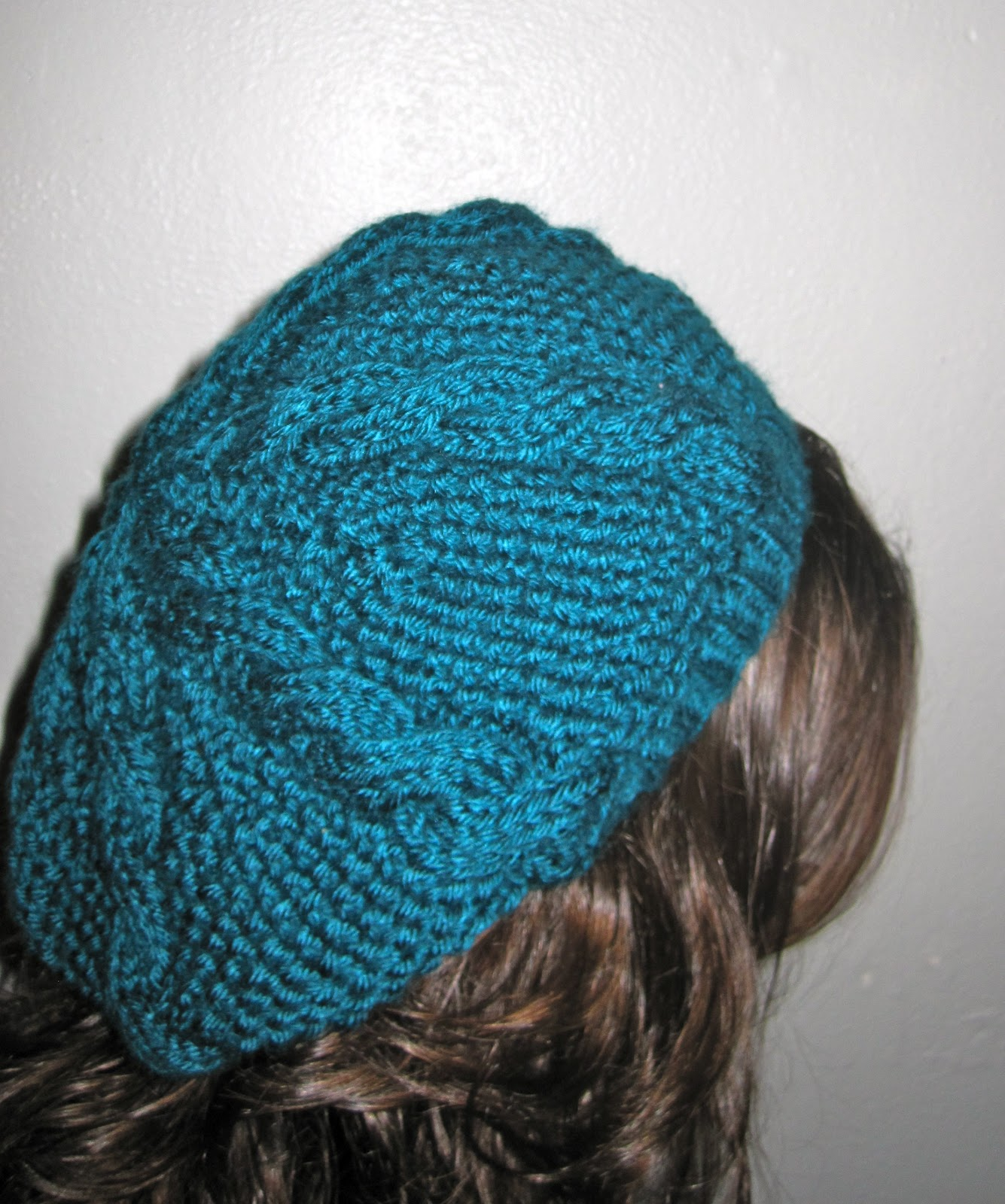 Carons Cable Beret A Time to Knit