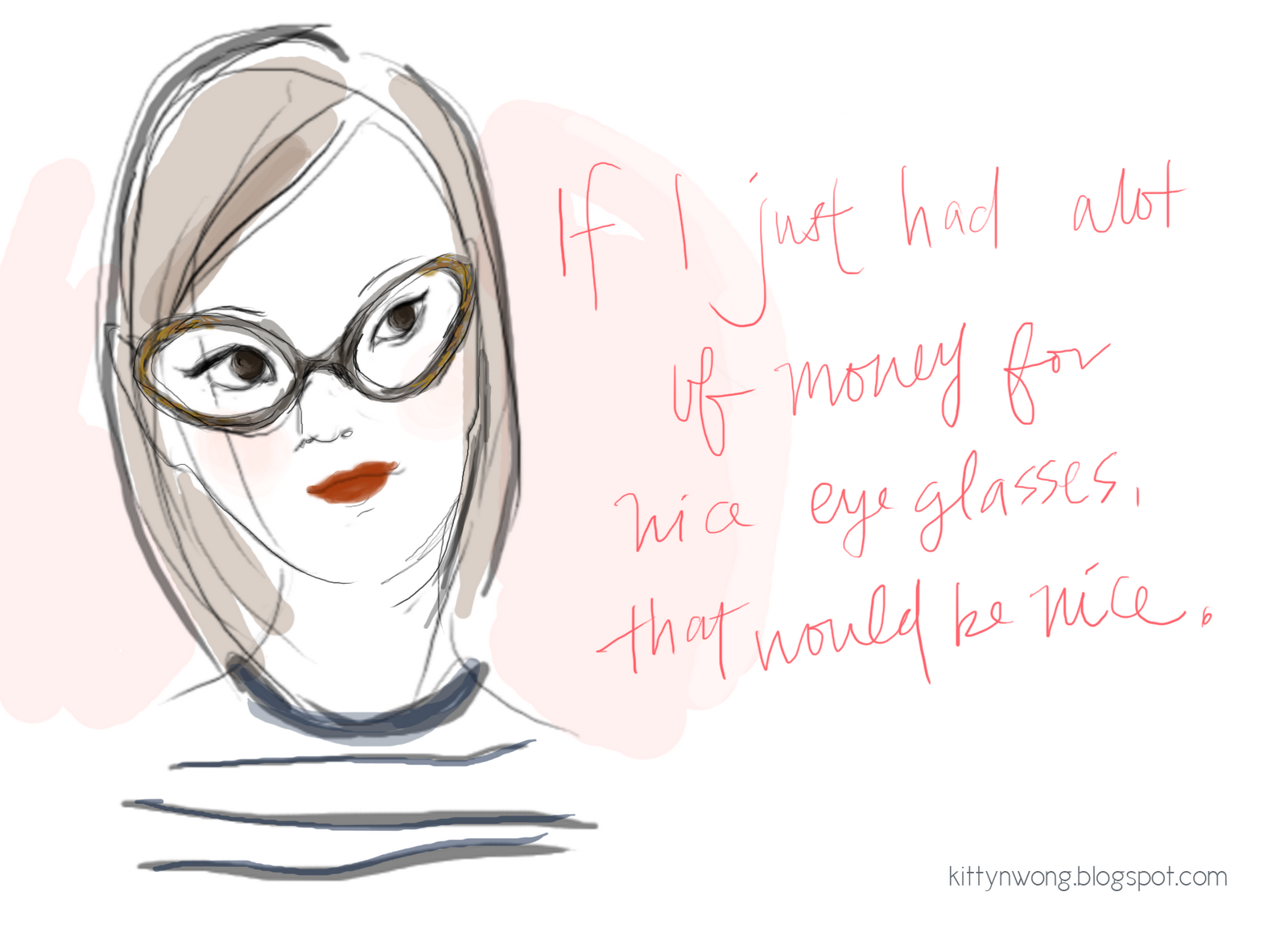 sketches girl in andy wolf cat eye frames - Wolf Picture Frames