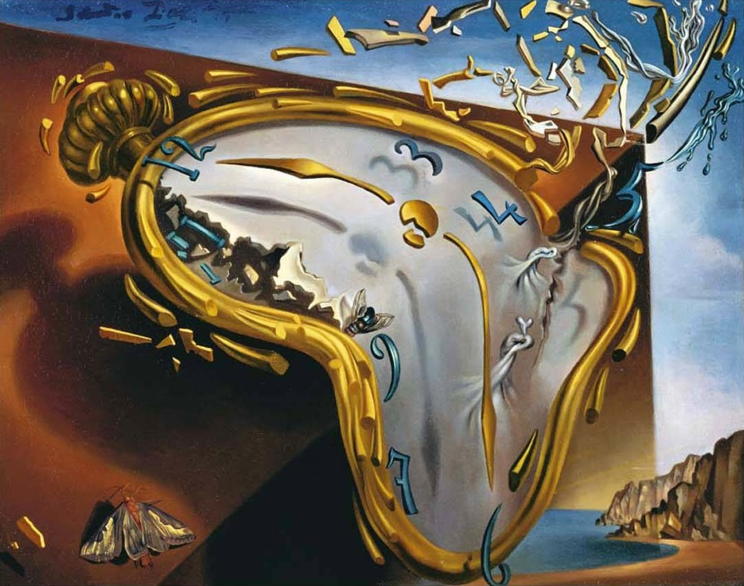 Painting surrealism salvador dali art for your wallpaper the melting watch voltagebd Gallery