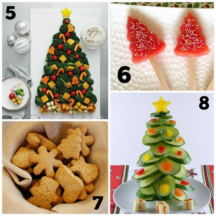 Healthy Holiday Snacks Collage 2