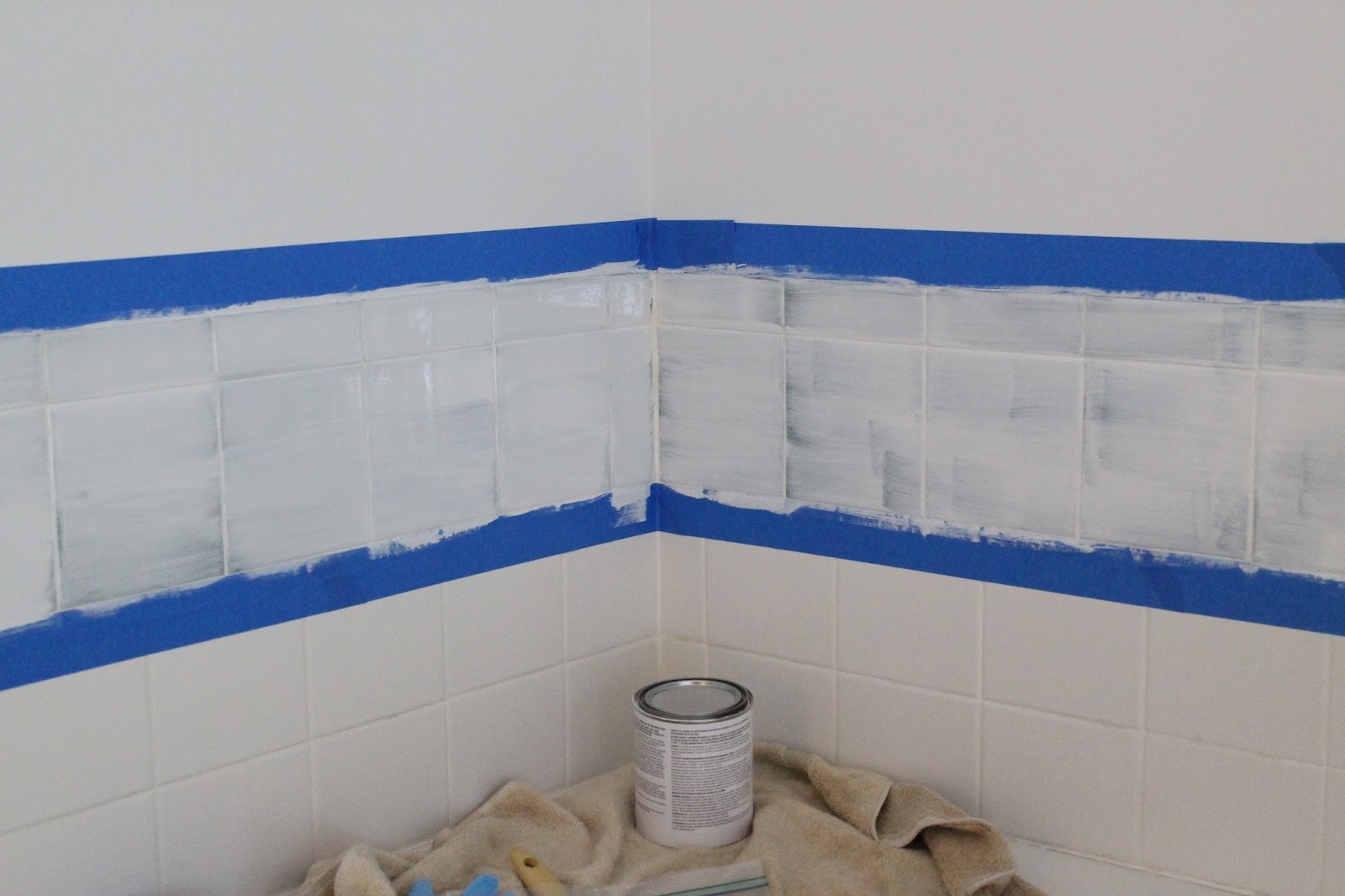 Tile paint home depot home painting ideas for Paint for tile in bathroom