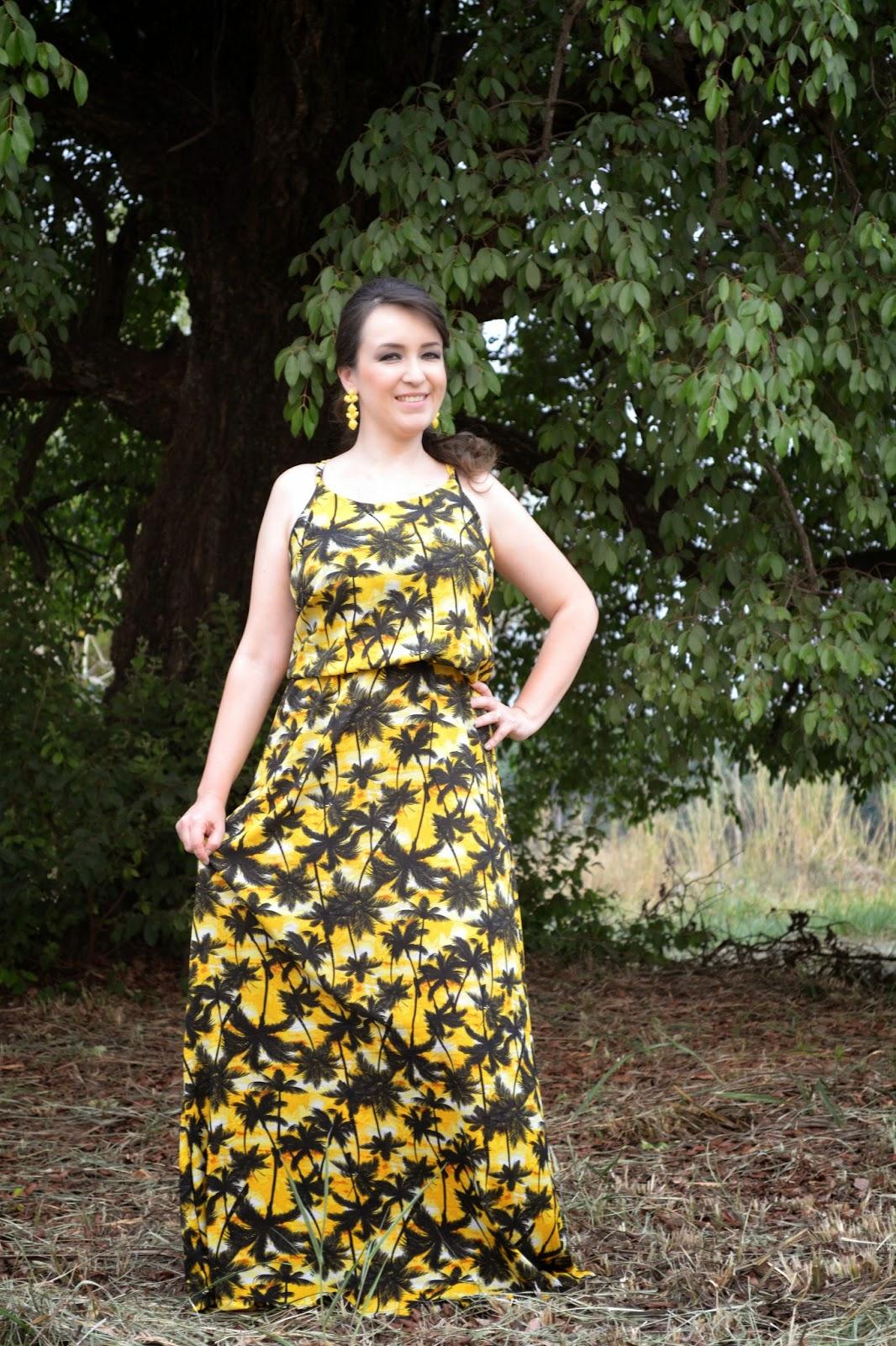 vestido longo estampado, estampa tropical, blog camila andrade, lalilu modas, blog camila andrade, look do dia, verão 2015