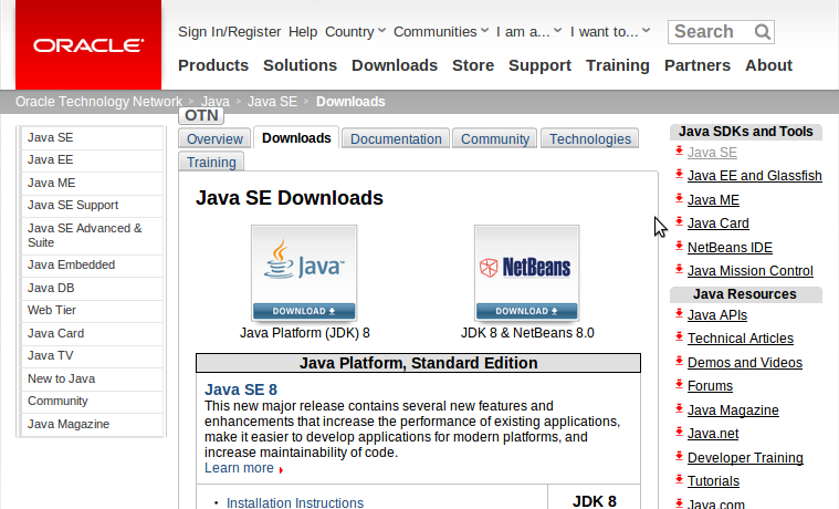 Java Installation: Downloading, Installing and Setting
