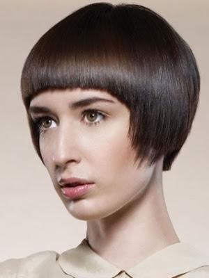 cabello corto marrón