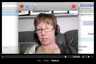 Screen shot of Skype interview with Ms. Cassidy