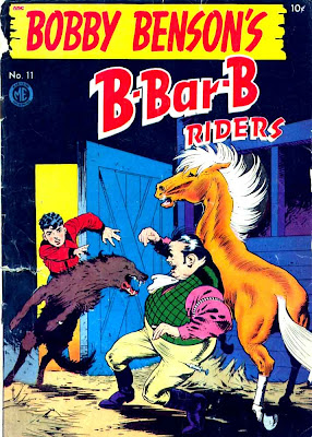 Bobby Benson's B-Bar-B Riders v1 #11 western comic book cover art by Frank Frazetta
