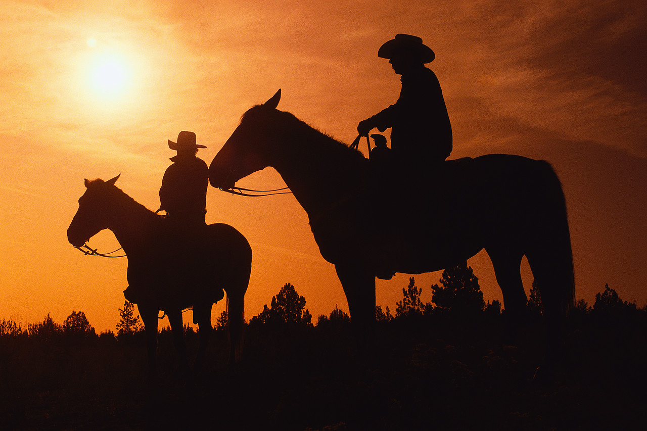 cowboy sunset