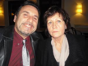 Con María de Luis.