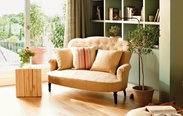 rincon de lectura sofa tela arpillera