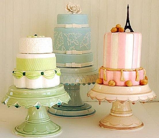 Pretty Domestic Cake Stands