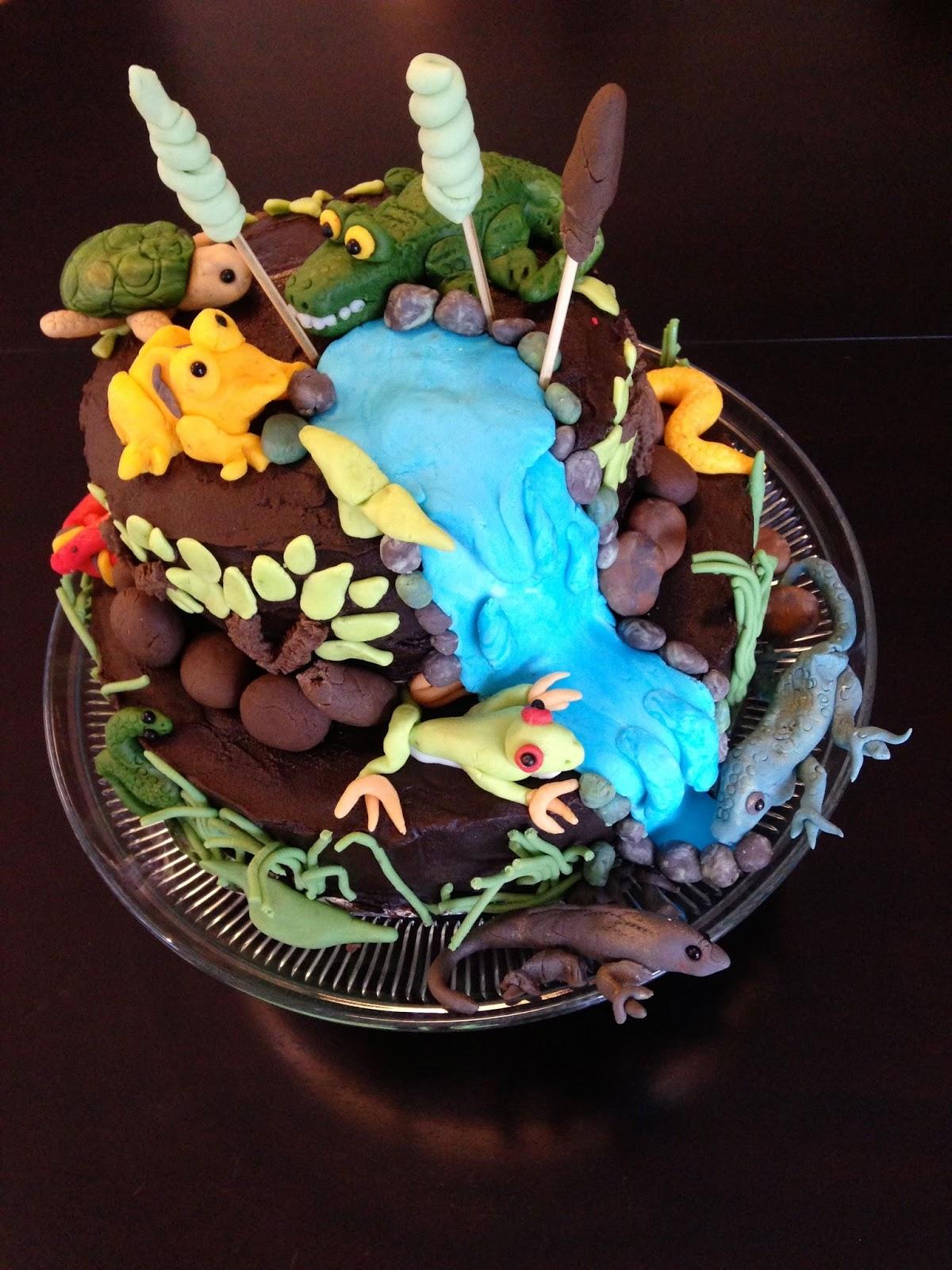 Design For Children Reptile Themed Birthday Cake