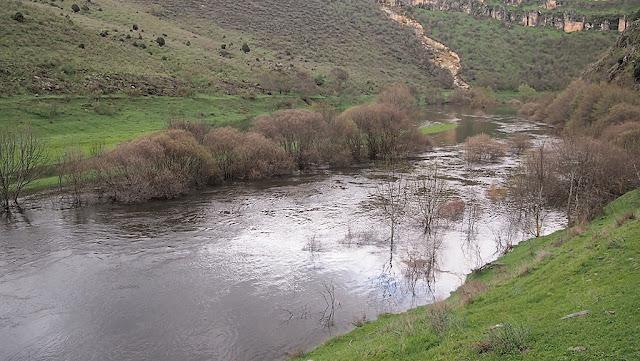 Río Lozoya desbordado