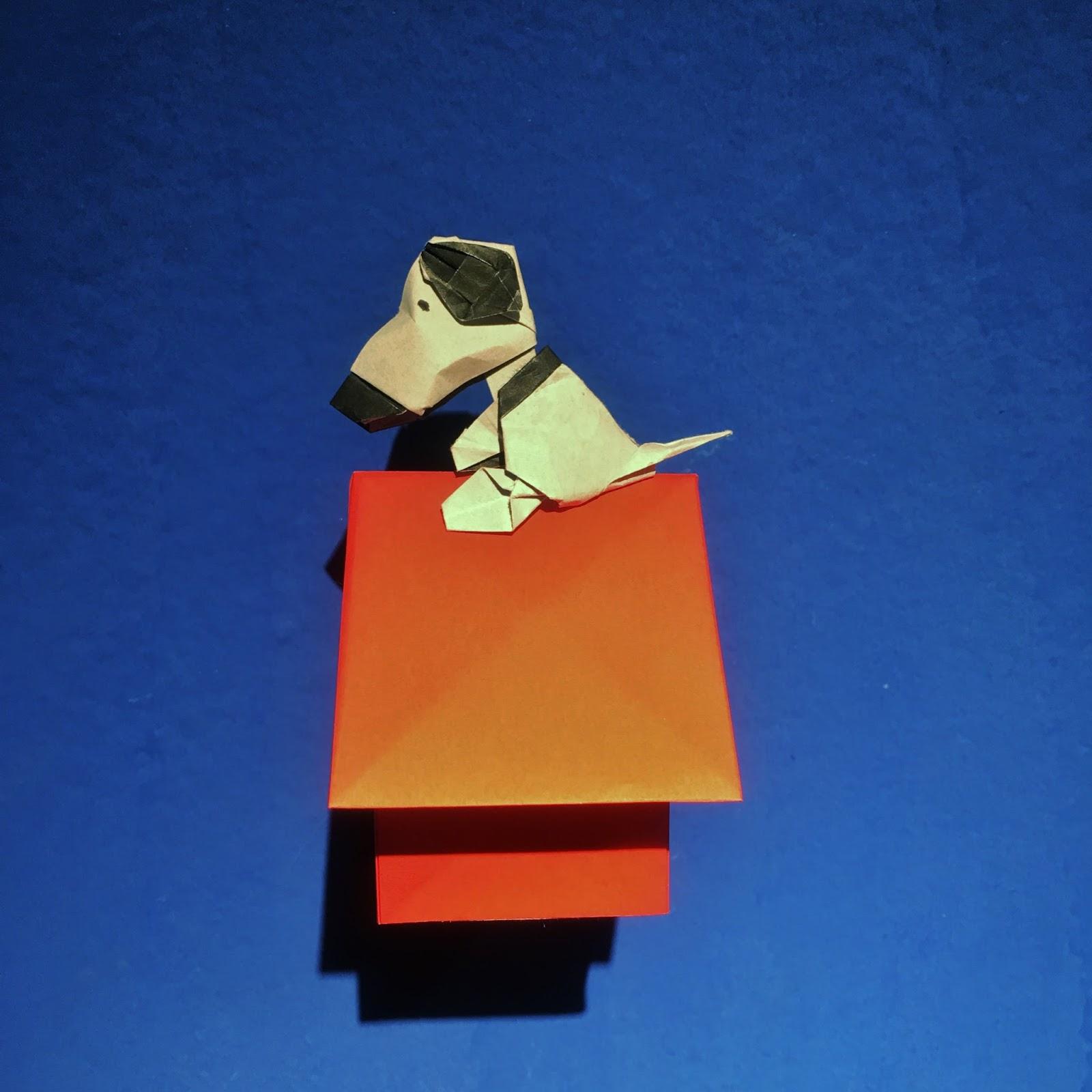 Snoopy de papel origami Ana Sofía Casaverde