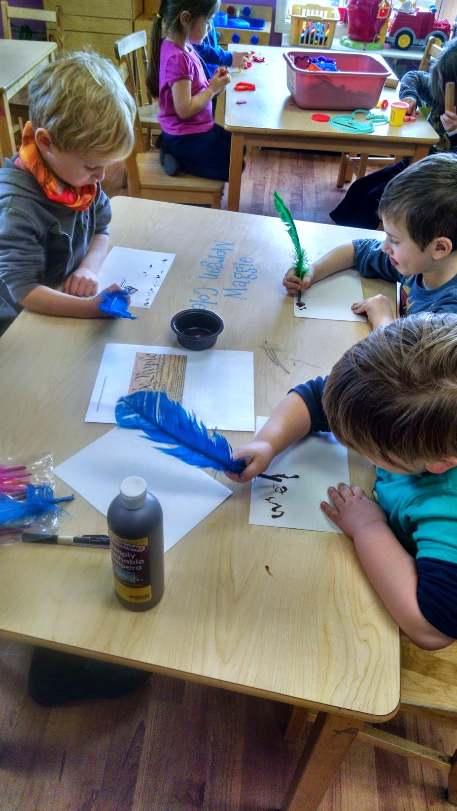 quill writing Pre-K