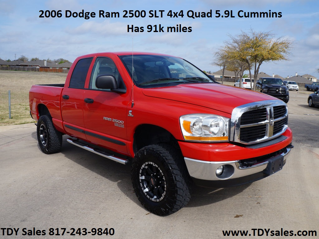 2006 Dodge Ram 2500 In Red With 91 310 Miles Slt 4 215 4 Nav