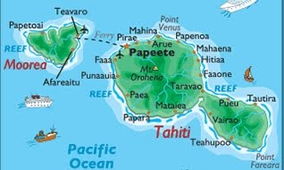 Map of Tahiti