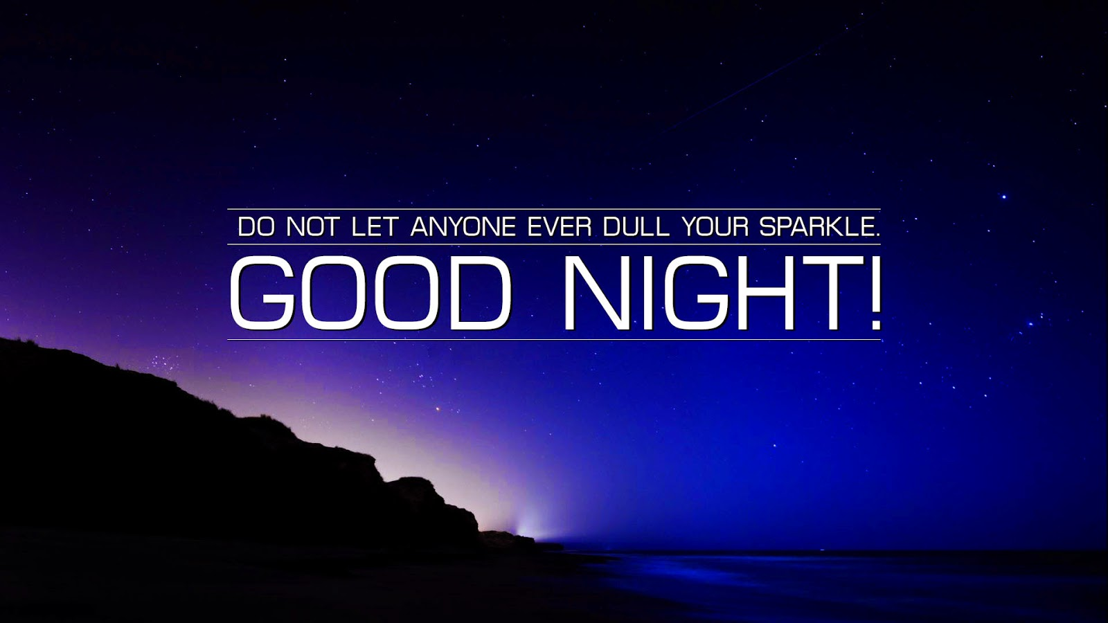Good Night Wishes Quotes Blue Wallpapers