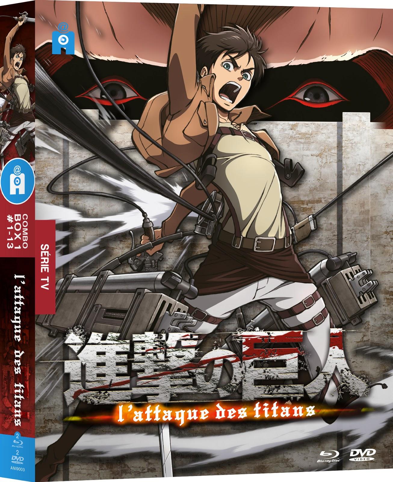 Carnet de Pop-Culture !: L'Attaque des Titans (2013) - Coffret partie I