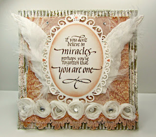 quietfire, elegant ovals, spellbinders, shabby, corrugated, miracle, graphic 45, A Ladies Diary, card