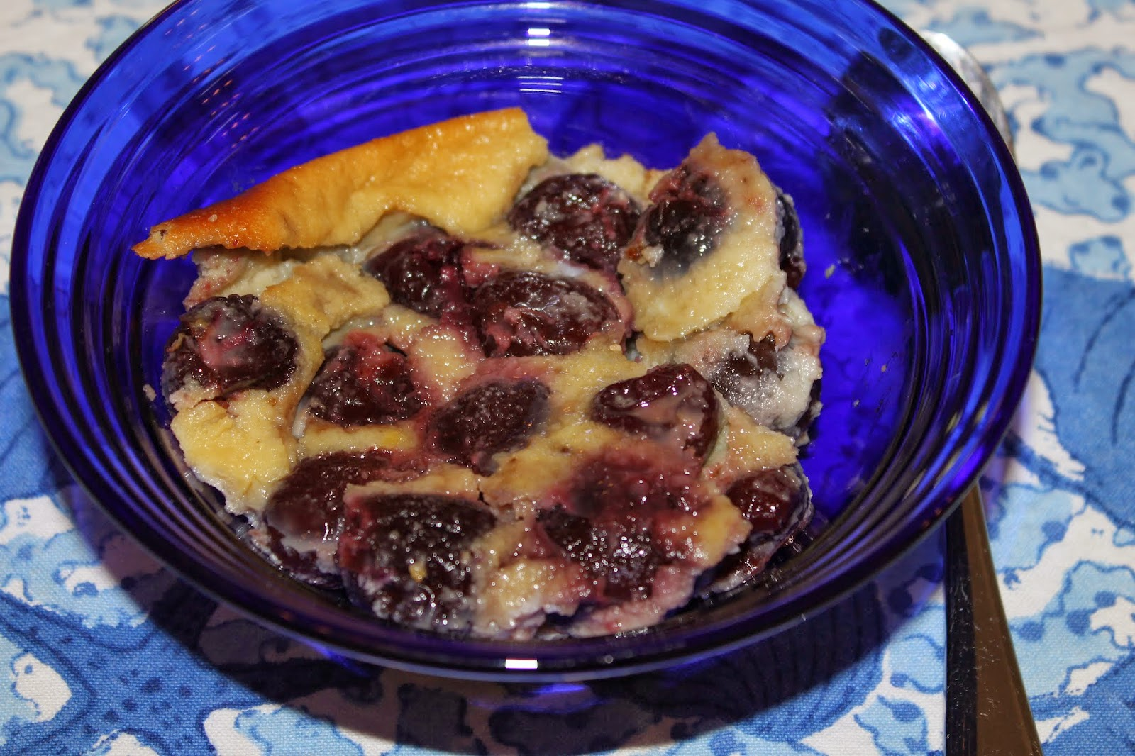 cherry clafouti made with almond flour