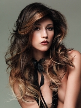 Brunette Hairstyles with Blonde Highlights - blondelacquer