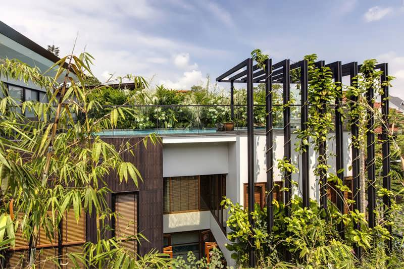Modern Dream Home Design With Vertical Gardens And A Rooftop ... on