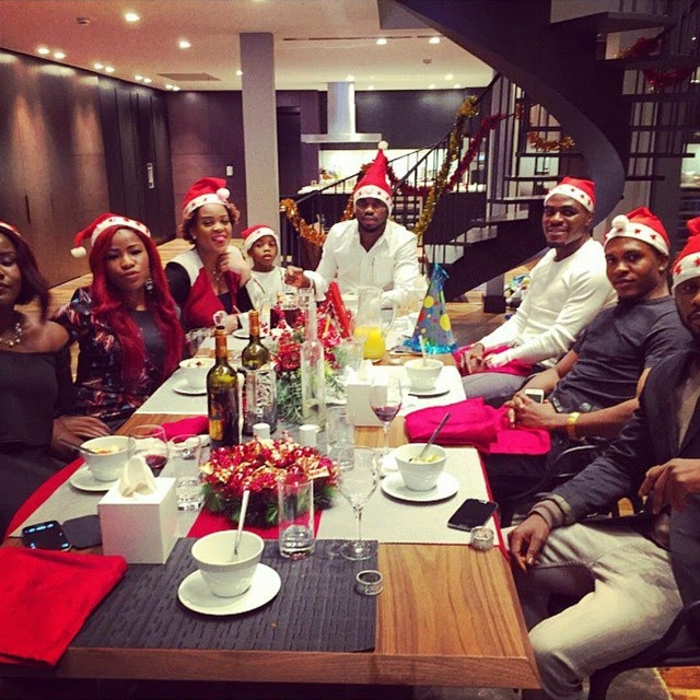 How nigerian celebrities spent their christmas today for Fancy at home dinners