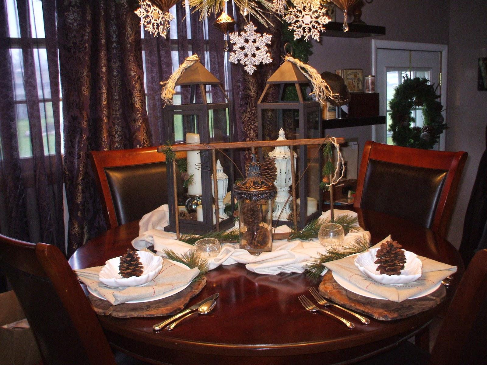 Lantern & Ladder Christmas Tablescape