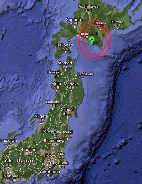 Magnitude 4.7 Earthquake of Shizunai, Japan 2014-11-01