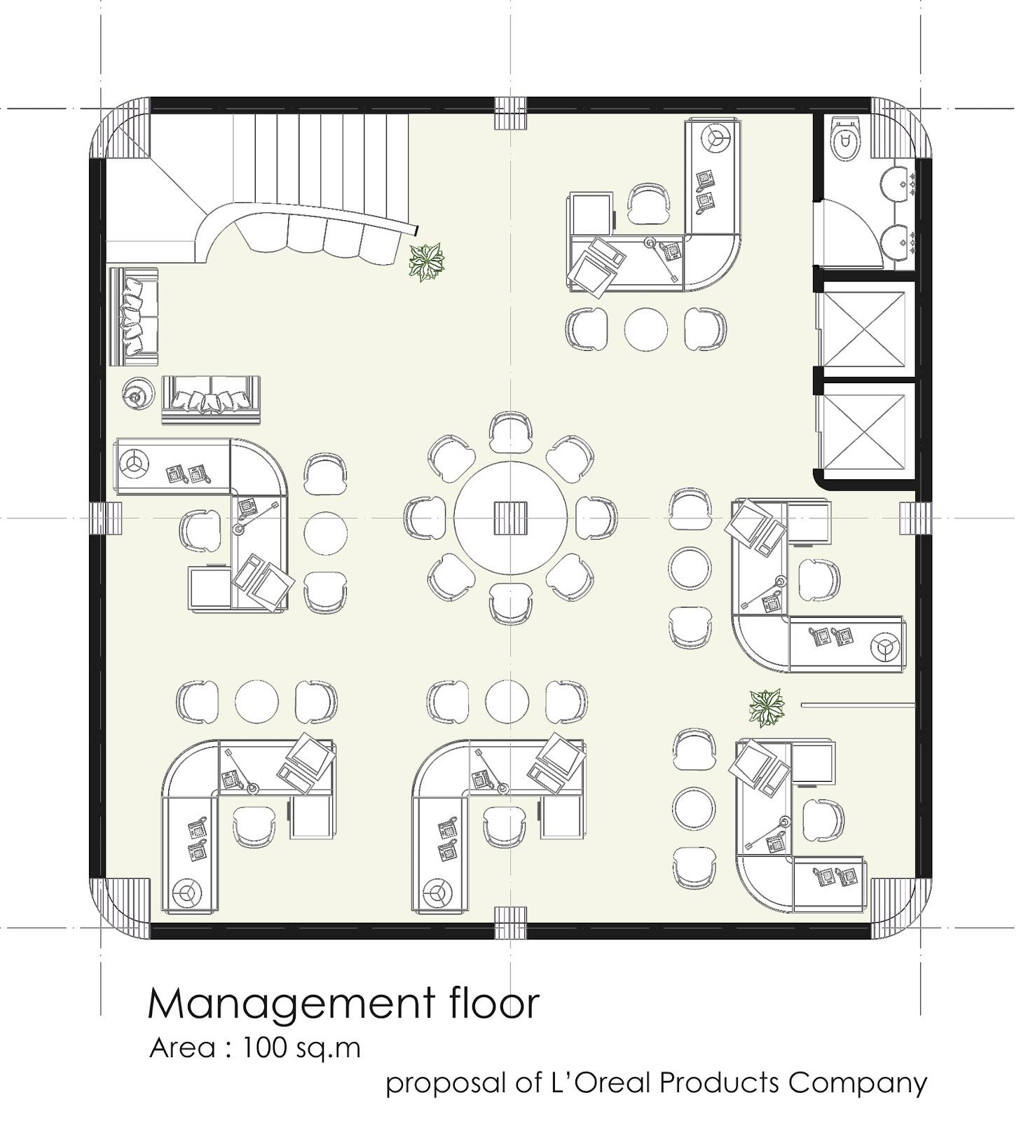 Modern Office Building Floor Plan