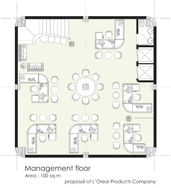 Floor plan of management floor