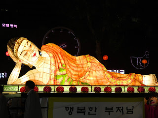 Sleeping Buddha lantern