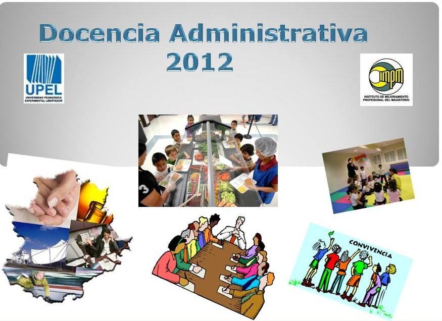 Docencia Administrativa 2012